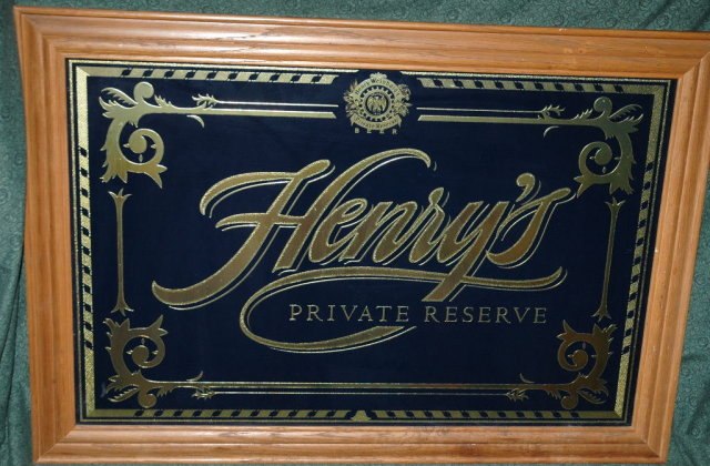 HENRY WEINHARD'S PRIVATE RESERVE Bar Mirror