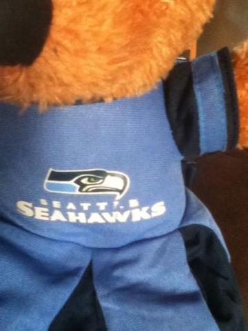 SEATTLE SEAHAWKS CHEERLEADER PLUSH  TEDDY BEAR NFL LICENSED  W/TAGS