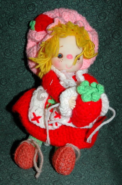 Knitted Strawberry Shortcake Doll -adorable *Price Reduced!*