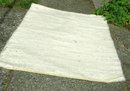 Thick Fuzzy White 100% Wool Area Rug 55