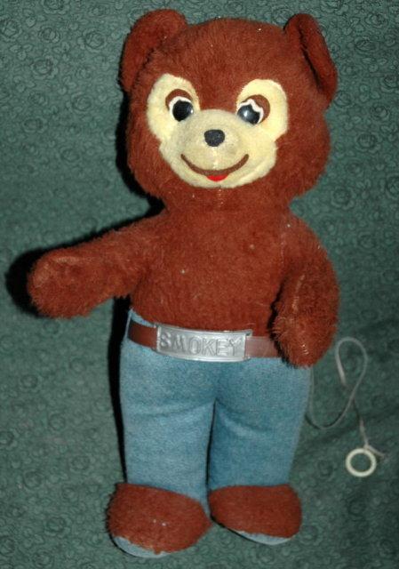 Vintage Knickerbocker Talking Smokey Bear.