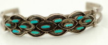 Petite Point Turquoise Sterling Bracelet -Weeka