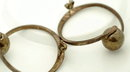 Mexico Sterling Modernist Hoop Ball Earrings-