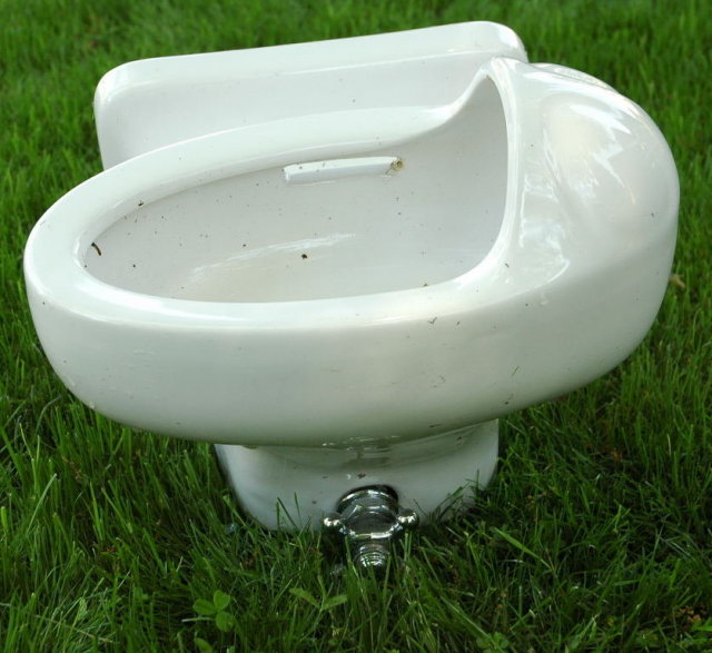 Vintage Porcelain Haws Drinking Fountain