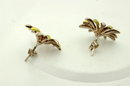 Sterling & Enamel Flower Earrings