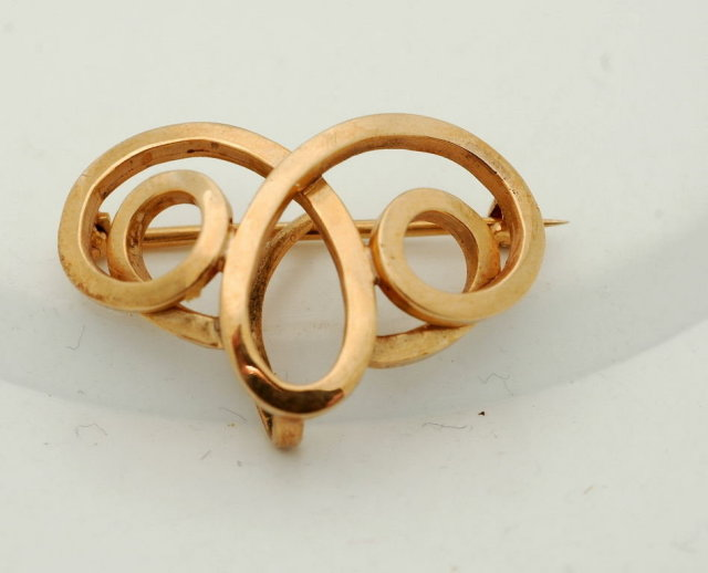 14k Solid Gold Watch Pin