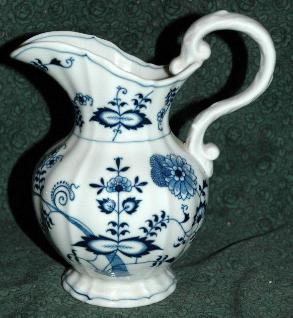 Blue Danube Onion Pattern Milk Pitcher Creamer