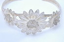 Sterling Silver Filigree Cuff Flower Bracelet