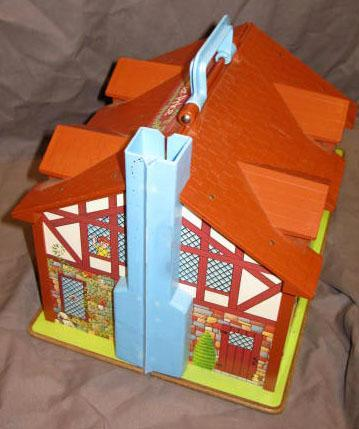 Vintage Fisher Price House Vintage Little People Playset Toy Play Family Tudor House #952
