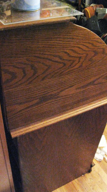 Oak Roll Top Desk quartersawn oak  Perfect Size for small area, price drop for quick sale