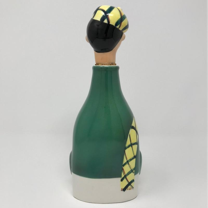 Scotsman Scotch Ceramic Musical Bottle Decanter,  1960's Plays How Dry I Am