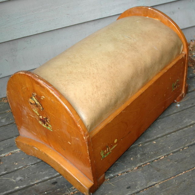 Western style Pine Ottoman Boeing Built 1920's   * PRICE REDUCDED * !