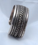 Multi Pattern Sterling Cuff Bracelet. 1