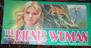 The Bionic Woman Board Game Parker Brothers 1976