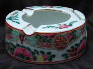Chinese Porcelain Ashtray & Match Holder