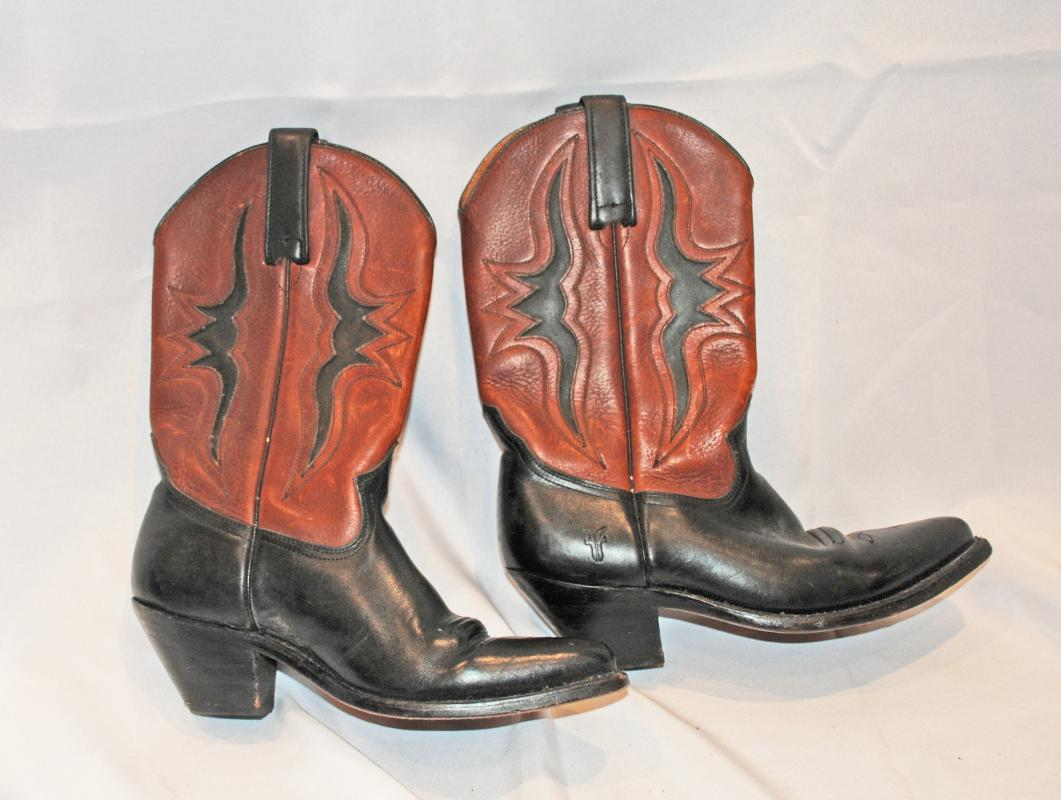 Lady's Frye Boots Black Brown with  cut outs sz 6   Short