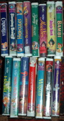 15  Disney VIDEOS -Cinderella,Sleeping Beauty*REDUCED PRICE* FREE SHIPPING WITH IN THE USA!!!!1