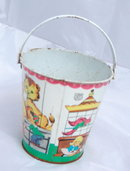 J. Chein  Co. Tin Litho Sand Pale -Bucket