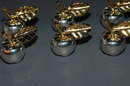 6 silver plated Apple Place Card Holders