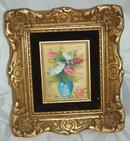 Small Oil Painting by Garth in Ornate Gilded Frame