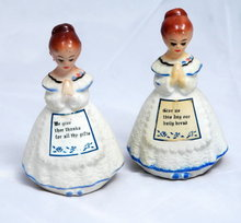 Plastic or compositoin  Praying Church Ladies Salt and Pepper Shakers