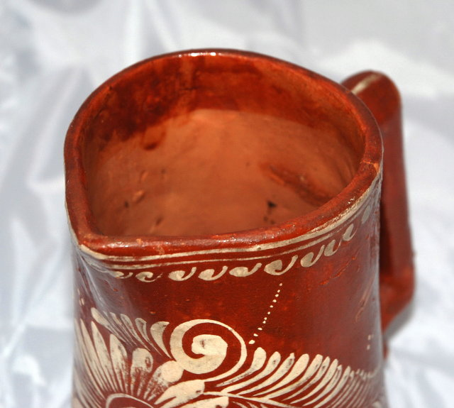 Old Rustic Eathernware Mexican Pottery Pitcher *Price Reduced!*