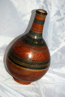 Old Rustic Eathernware Mexican Pottery vase  *Price Reduced!*