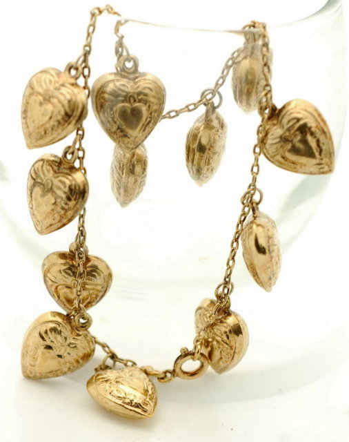 Sterling Vermeil Heart Charm Bracelet  * PRICE REDUCTION!*