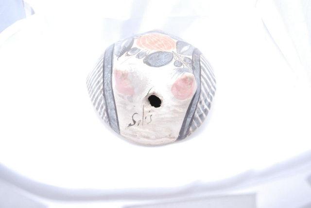 Old Tonala Pottery Owl signed Solis