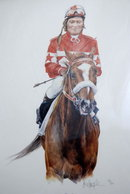 Racehorse  Overskate & Jocky Robin Platts Print