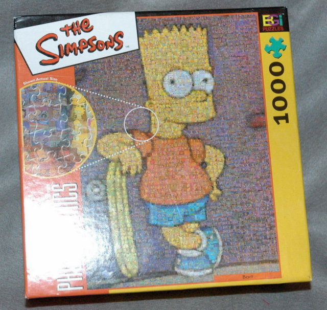Bart Simpson Photomosaics  The Simpsons  Jigsaw Puzzle ~ over 1000 pcs.