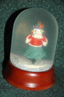Vintage Girl Ice Skating Snow Globe  *REDUCED PRICE*
