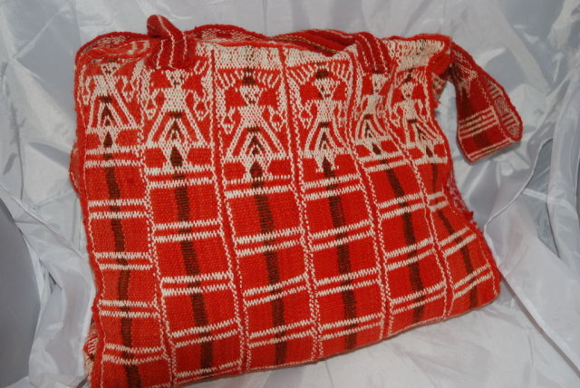 Vint Guatemalan  Wool Travel Tote Bag Satchel*REDUCED PRICE*