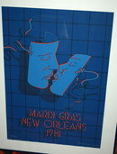 Mardi Gras New Orleans '81 Poster Signed LTD ED