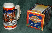 BUDWEISER 1999 20th ANNIVERSARY STEIN W/ BOX  **PRICE REDUCED**!!