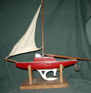 Hand Crafted Wooden Sail Boat Model *Price Reduced!*