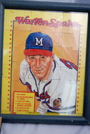 Framed Baseball Card Puzzle William Spahn 89' *Price Reduced!*