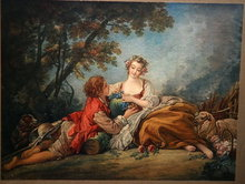 Antique Color Litho  Francois Boucher 1739   *** PRICE REDUCED!***