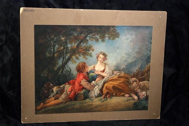 Antique Color Litho  Francois Boucher 1739   *** PRICE REDUCED!***