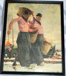 Antique Print  P. Vanderhem 2 Dutch Fishermen