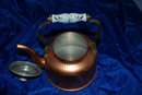 Hand Hammered Copper Tea Kettle with  Delft