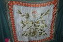 Floral design Silk Scarf  Elaine Gold