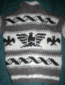 Genuine Canadian Cowichan Indian Sweater 100%