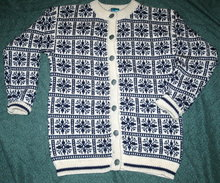 Vintage Dale of Norway  Cardigan Sweater sz 42