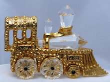 SWAROVSKI Crystal & Gold Plated Locomotive
