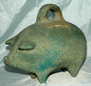 Extra Large Mexican Folk Art Pottery Piggy Bank