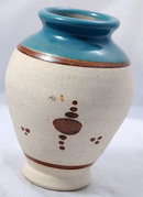 Mexican Pottery Stonware Vase with Enameling **PRICE REDUCTION**