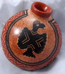 Signed Costa Rica Chorotega Guaitil Pottery , reclining  vase * PRICE REDUCTION!*