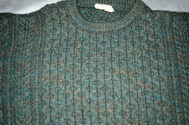 Blue/Green/Amber  Flecked Irish Fisherman Aran