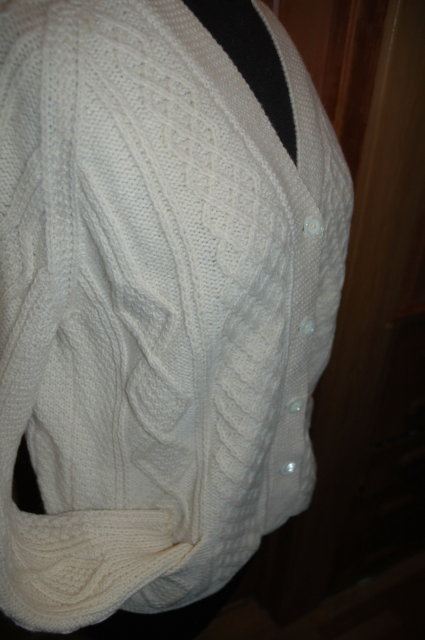 Vintage Irish Fisherman's Aran Knit Sweater by Standun